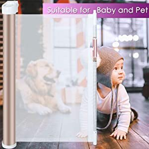 Pack Retractable Baby Gate Extra Wide for Doorways