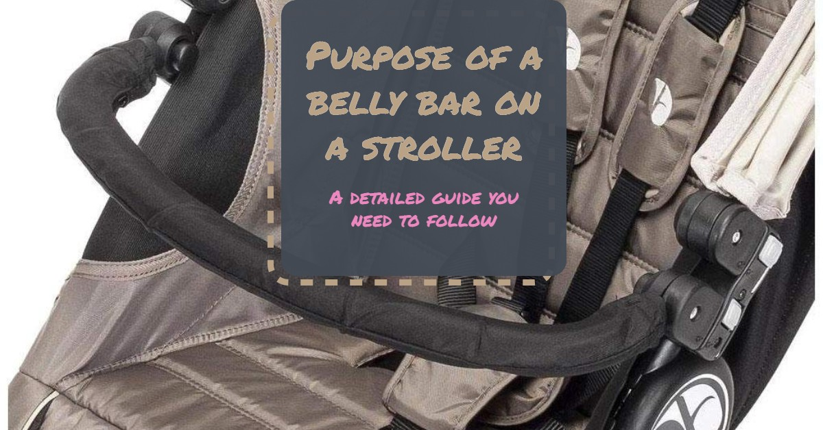 What is the purpose of a belly bar with a baby stroller